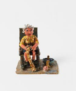 <i>untitled</i>, 2018 </br> glazed ceramic, 19 x 19 cm / 7.5 x 7.5 in