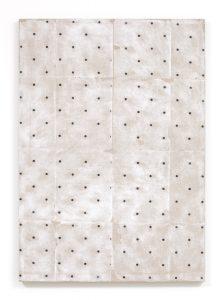 pattern portrait (pilot), 2013 acrylic gel transfer, paper , 101.6 x 71.15 cm