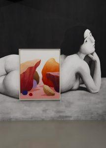 <i>pastel et nu</i>, 2015 </br> installation view, centre culturel suisse de paris, paris