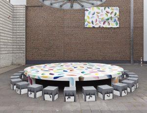 <i>three elephant's day</i>, 2014 </br> installation view, bonner kunstverein, bonn