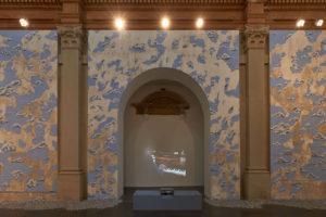 <i>partition pour main et masse</i>, 2018 </br>  installation view, centre d'art contemporain chapelle saint-jacques, saint-gaudens