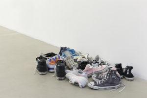<i>latifa echakhch_skin</i>, 2012</br>used shoes</i>installation