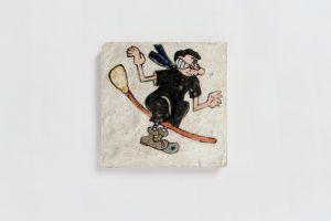 <i>untitled</i>, 2006 </br> glazed ceramic,  14,6 x 14,6 cm / 5.7 x 5.7 in