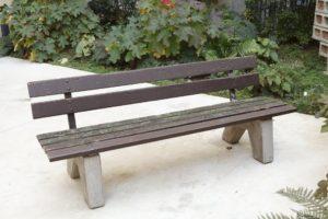 <i>kasseler parkbänke</i>, 2009 </br> found park bench from kassel, 76 x 200 x 60 cm / 29.9 x  78.7 x 23.6 in