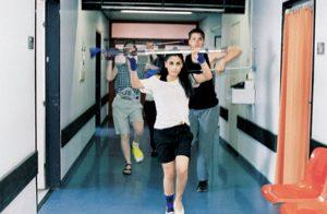 <i>hospital bone dance</i>, 2006  </br> video, color, sound, 7'