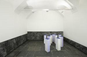 <i>latifa echakhch</i>, 2009 </br> installation view, francesca kaufmann, milan