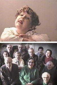 <i>apparizione</i>, 2001 </br> two-channel installation, video, color, sound, 9'