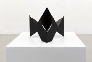 <i>scultura da viaggio (travel sculpture)</i>, 1950-58 </br>  varnished iron, 43 x 50 x 56 cm / 16.9 x 19.7 x 22.1 in