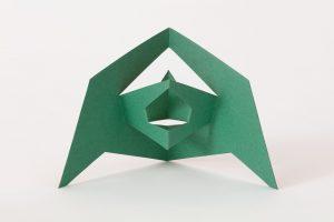 <i>scultura da viaggio 525 (travel sculpture 525)</i>, 1959 </br> cardboard, 18 x 30 cm / 7.1 x 11.8 in