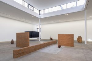 <i>stepping stairs</i>, 2018  </br> installation view, kw institute for contemporary art, berlin