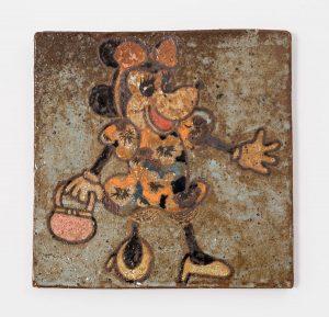 <i>untitled</i>, 2013 </br> glazed ceramic, 18,4 x 18,4 cm / 7.2 x 7.2 in