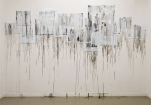 laura, almost 12, 2011, dissolved photographs, variable dimensions