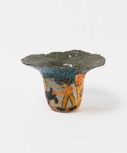 <i>untitled</i>, 2017 </br> glazed ceramic, 15,2 x 22,8 x 6,3 cm / 6 x 9 x 2.5 in