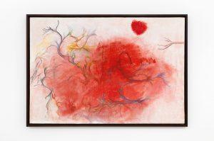 """""""vous avez fait un paysage moral exact"""", 1977 oil on canvas, 94,3 x 135,5 x 4,2 cm / 37.1 x 53.3 x 1.6 in"""