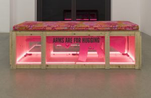 <i>gun bench (codepink protest props in support of march for our lives, remembering marjory stoneman douglas high school)</i>, 2018 