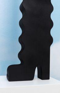 anthea hamilton, tall wavy body boot, 2018 (detail)