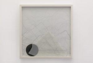 <i>Alfa e omega (Alpha and omega)</i>, 2013 </br> graphite on paper, 50 x 50 x 6 cm / 19.6 x 19.6 x 2.3 in