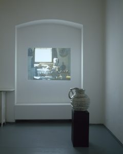 <I>looking for time (quogue)</I>, 2007 </br> video, color sound, 18' </br> ceramic, 60 x 50 cm / 23.6 x  19.7 in