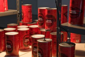 canned laughter, installation view, via farini/docva, milan, 2009