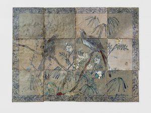 <i>untitled</i>, 1976 </br> glazed ceramic, 57,1 x 75,9 cm / 22.5 x 32.9 in