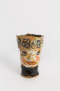 <i>untitled</i>, 2018 </br> glazed ceramic, 13 x 7,6 x 12,7 cm / 5.1 x 3 x 5 in