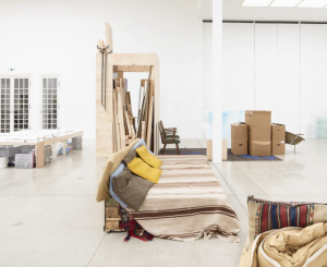 <i>to be in an upright position on the feet (studio visit),</i> 2016 </br> installation view, secession, vienna