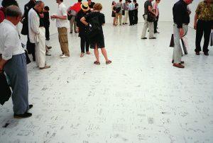 <i>dan perjovschi</I>, 1999 </br> installation view, romanian pavilion, 48th venice biennial, venice