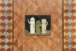<i>Three Pots</i>, 2018 </br> marble, 100 x 77,5 x 3 cm / 39.4 x 30.5 x 1.2 in