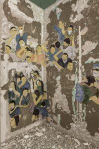 <i>crowd fade</i>, 2017 </br> installation view, 15th istanbul biennial, istanbul modern, istanbul