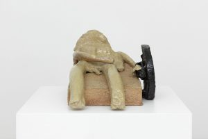 the wounded warrior, 2019 glazed stoneware, 45 x 51 x 72 cm / 16.5 x 20 x 28.3 in