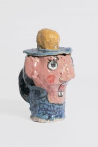 <i>untitled</i>, 2016 </br> glazed ceramic, 13,9 x 9,5 x 9,5 cm / 5.5 x 3.7 x 3.7 in