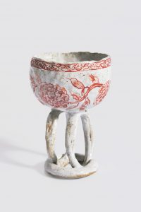 <i>untitled</i>, 2005 </br> glazed ceramic, 1,6 x 9,2 x 9,8 cm / 5.3 x 3.6 x 3.8 in