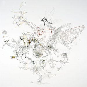 bird people, 2004, cut photograph, 200 x 200 cm / 78.7 x 78.7 in