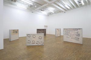 <i>broken words</i>, 2019 </br>  installation view, salzburger kunstverein, salzburger