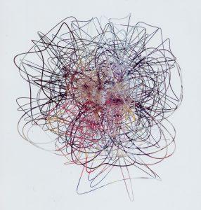 flower portrait, 2003, cut photographs