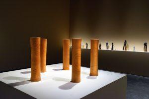 <i>etel adnan, simone fattal, bob wilson: garden of memory</i>, 2018 </br> installation view, musée yves saint laurent, marrakech