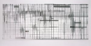 <I>vanishing points: shadow piece with shadows</I>, 2001 </br> cut out photograph, 125 x 300 cm / 49.2 x 118.1 in
