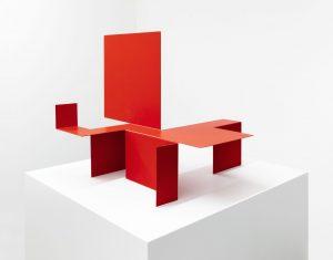 scultura pieghevole (foldable sculpture), 1951-91, metal, 70 x 70 x 60 cm / 27.5 x 27.5 x 23.6 in