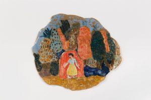 <i>untitled</i>, 2017 </br> glazed ceramic, 18,4 x 21,6 cm / 7.2 x 8.5 in