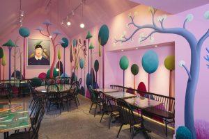 <i>café party</i>, 2017 </br> installation view, jupiter artland, edinburgh