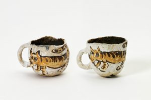 <i>untitled</i>, 2016 </br> glazed ceramic, 5 x 8 cm / 1.9 x 3.1 in (each)