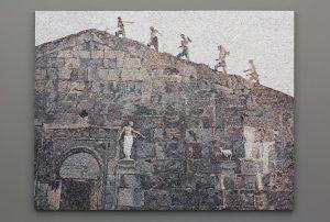 <i>facciata</i>, 2014 </br> marble mosaic, 200 x 262 cm / 78.7 x 103.1 in