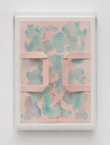 <i>untitled</I>, 2016 </br> watercolor and collage on paper, plexiglass </br> 25,4 x 18,8 x 2,3 cm / 10 x 7.4 x 0.9 in