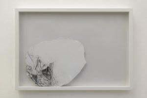 <i>il mistero nascosto da una nuvola (the mistery hidden by a cloud)</i>, 2013 </br> graphite on paper,  49 x 68,5 x 6 cm / 19.3 x 27 x 2.4 in