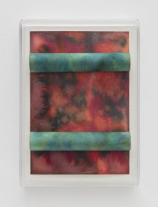 <i>untitled</I>, 2016 </br> watercolor on paper and cotton string, plexiglass </br> 25,4 x 17,8 x 2,3 cm / 10 x 7 x 0.9 in
