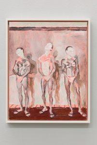 <i>i tre uomini</i>, 2014 </br> oil on canvas, 50 x 40 cm / 19.7 x 15.7 in