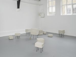 <i>testing time</i>, 2013  </br> installation view, studio voltaire, london