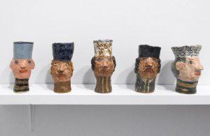 <i>magdalena suarez frimkess</i>, 2014 </br> installation view, white columns, new york