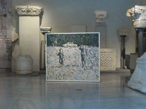 <i>everywehere but now</i>, 2013  </br> installation view, 4th thessaloniki biennale, thessaloniki