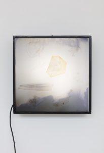 <i>polariscop 8</i>, 1960 </br> light box, 50 x 50 x 15 cm / 19.7 x 19.7 x 5.9 in